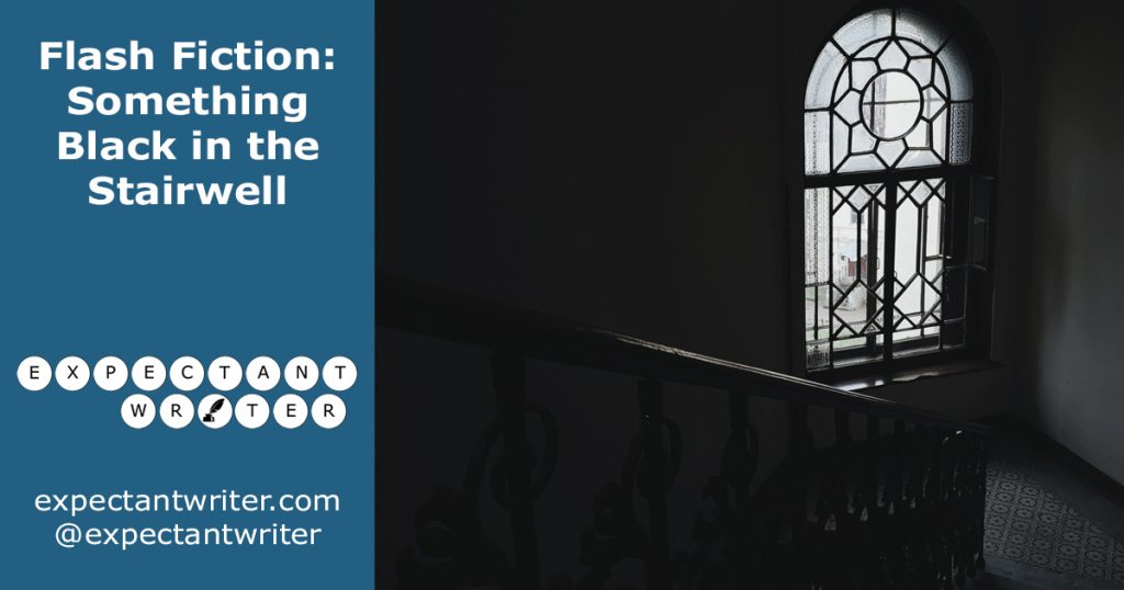 Expectant Writer Flash Fiction: Something Black in the Stairwell